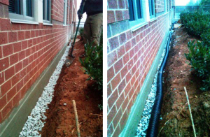 external french drain